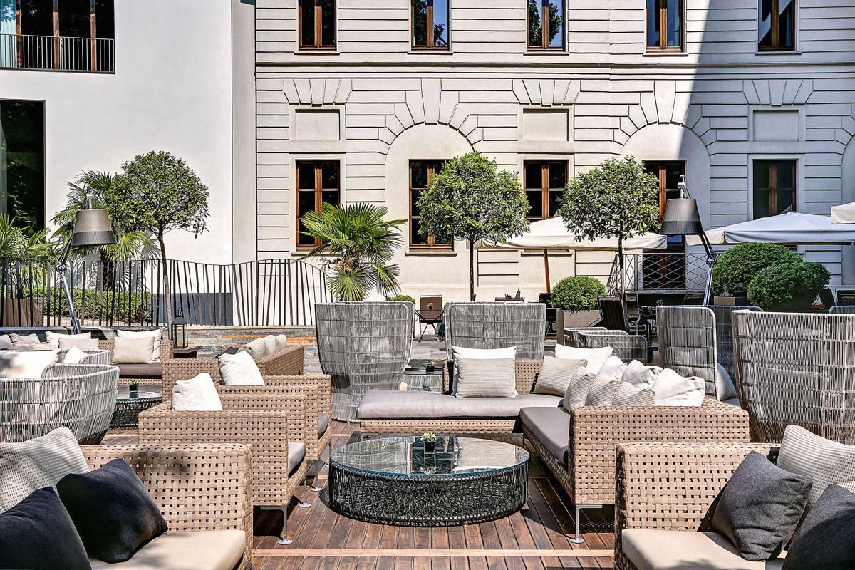 B&B Italia Outdoor furnishes the garden of the Bulgari Hotel in ...