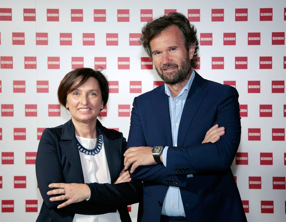 Fabiana Scavolini Amministratore Delegato Scavolini Spa e Carlo Cracco, testimonial della nuova campagna pubblicitaria Scavolini