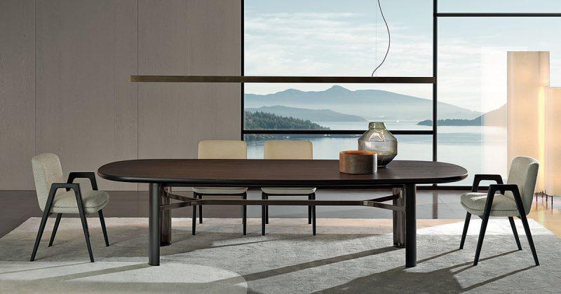 Minotti, tavolo Dan, design Christophe Delcourt