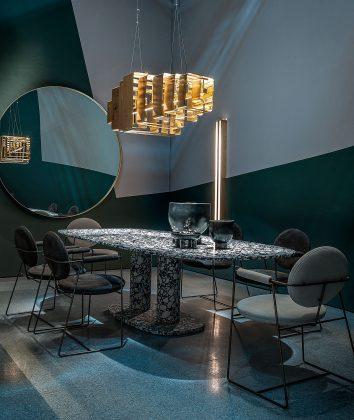 Baxter, tavolo Matera, design Paola Navone