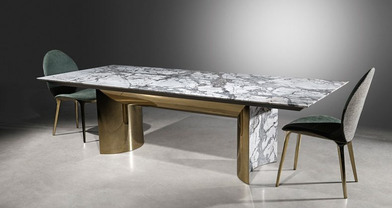 Visionnaire, tavolo Kerwan, design Alessandro La Spada