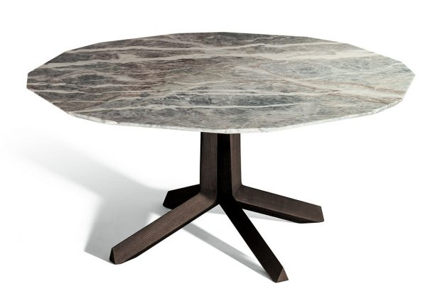 Poltrona Frau, tavolo Othello, design Roberto Lazzeroni