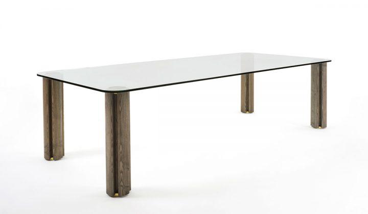 Porada, tavolo Quadrifoglio, design Carlo Ballabio