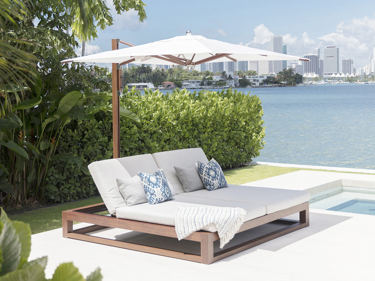 Tuuci the equinox double lounger double chaise longue allows two people or the whole family to relax the reclinable backrest whats more