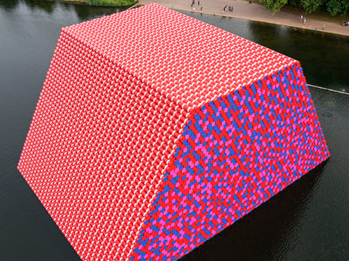 The London Mastaba at Serpentine lake, Hyde Park