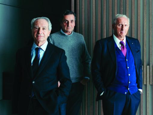 Giovanni Anzani, CEO Poliform insieme ai soci Aldo e Alberto Spinelli