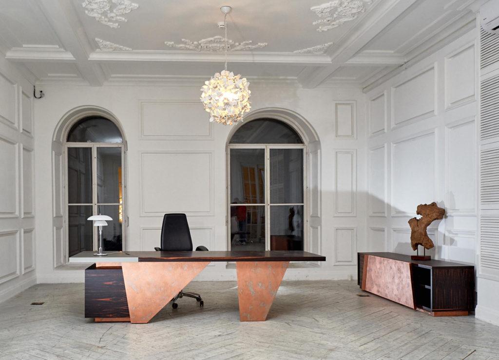 Collezione d'arredo d'ufficio Touch, design Marco Piva per Nayada, azienda russa con sede a Mosca