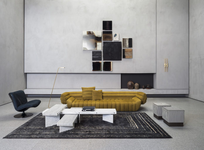 Divano/Sofa Tactile, Designer Vincenzo De Cotiis. Pelle/Leather Nabuck Kiwi