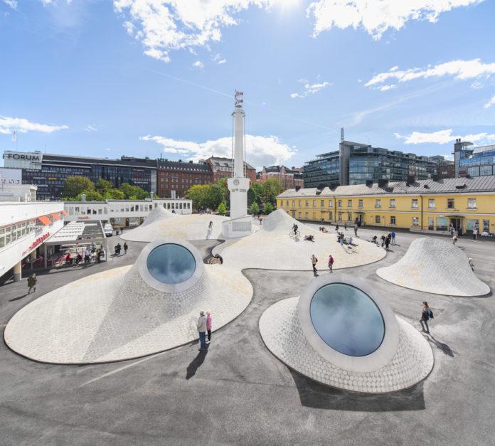 Amos Rex Art Museum, Helsinki, project by JKMM ©Mika Huisman