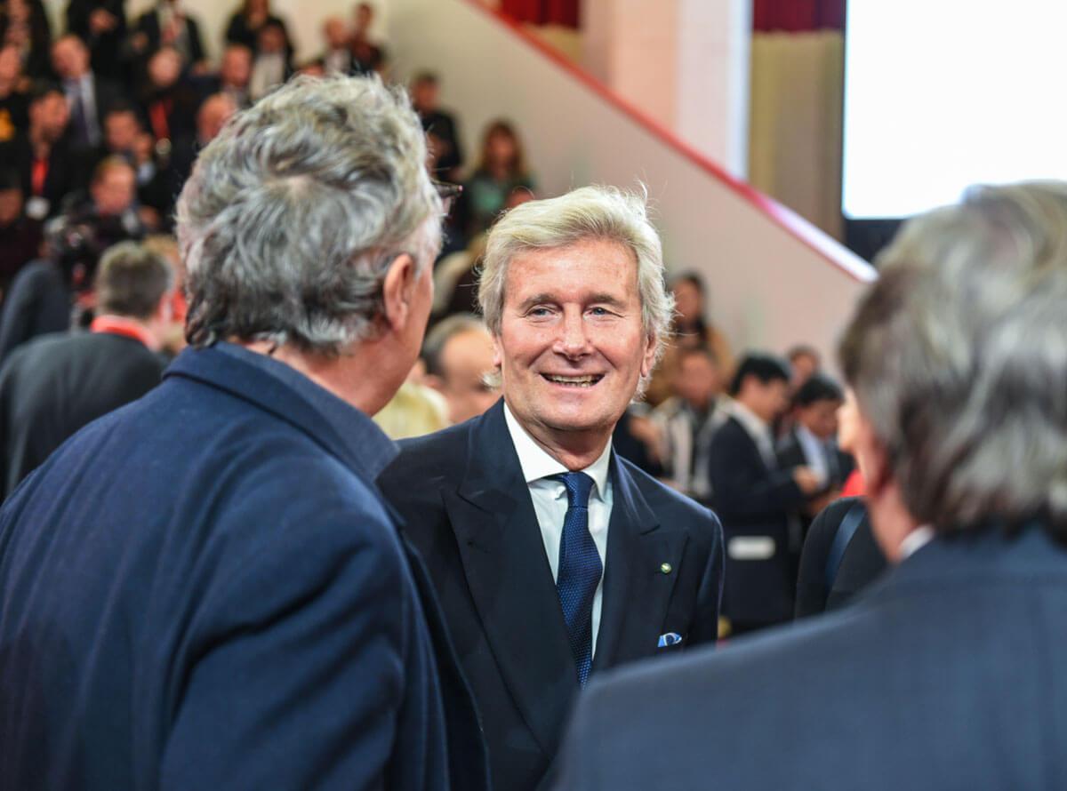 Stefano Boeri, Presidente Triennale di Milano e Claudio Luti, Presidente del Salone del Mobile.Milano
