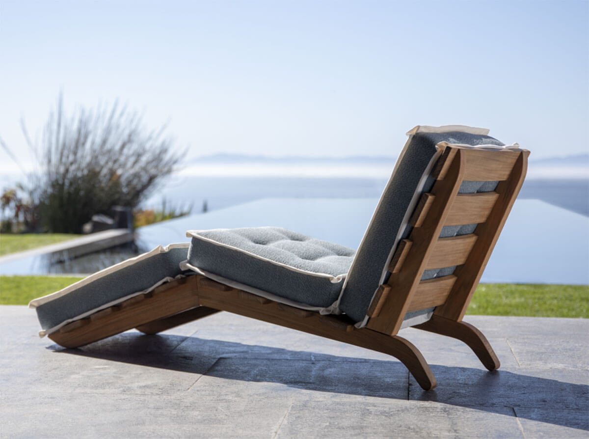 Cassina, Outdoor 1939 Folding Lounge Chair