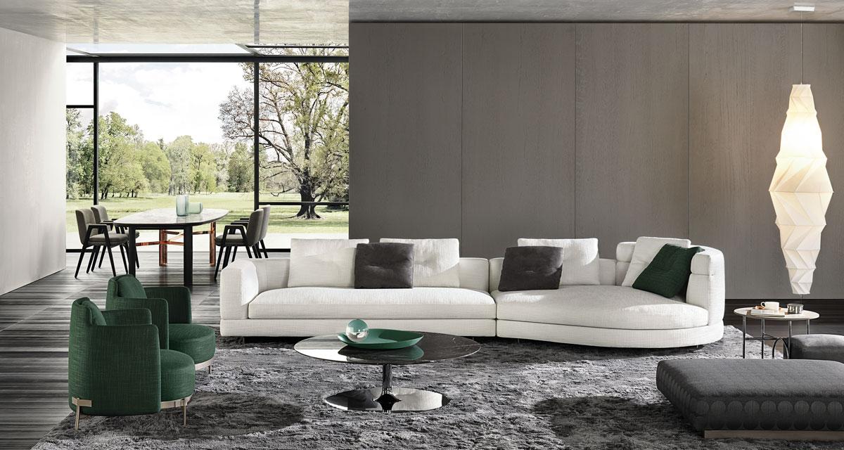sistema di sedute Alexander, Rodolfo Dordoni design