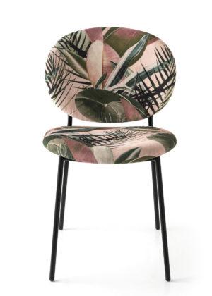 Calligaris - Allure anni'50 per la sedia Ines (design Busetti Garuti Redaelli) che ne reinterpreta gli stilemi in forme morbide e aggraziate. La struttura, realizzata in tubolare di metallo, sostiene - con straordinaria leggerezza - sedile e schienale dalle forme tondeggianti