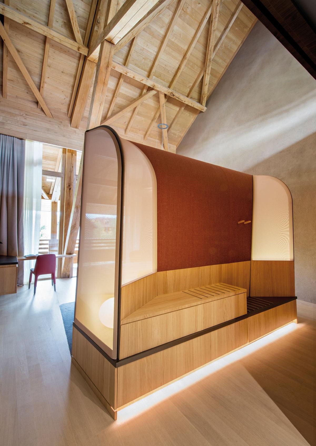 Hôtel des Berges & Spa des Saules, architettura e interior design by Jouin Manku studio © Nicolas Mathéus