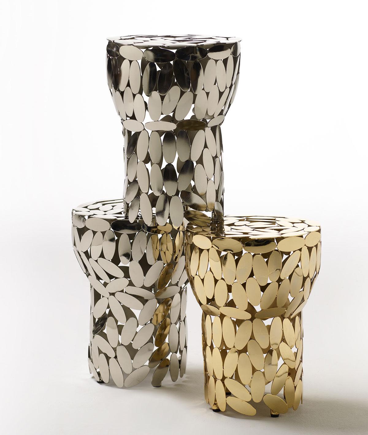 Opinion Ciatti, sgabelli/tavolini Foliae di Roberto Mora