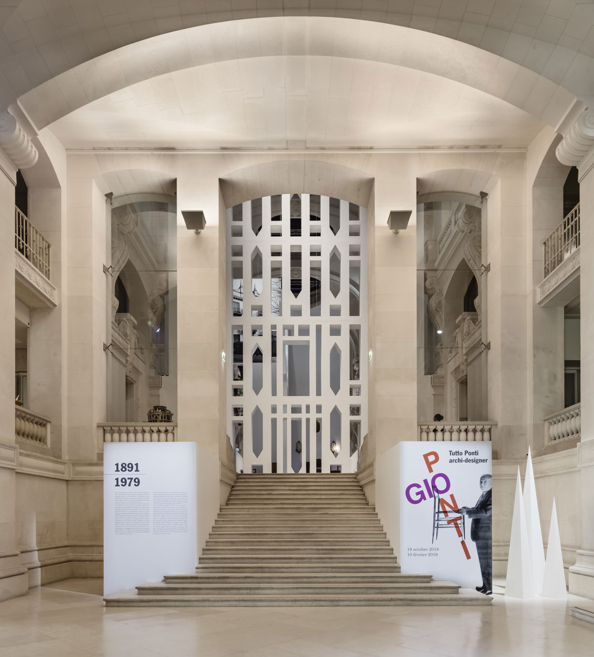 """MAD, Musée des Arts Décoratifs, exposition """" Tutto Ponti, Gio Ponti  Archi-Designer"""", 2018, Paris."""