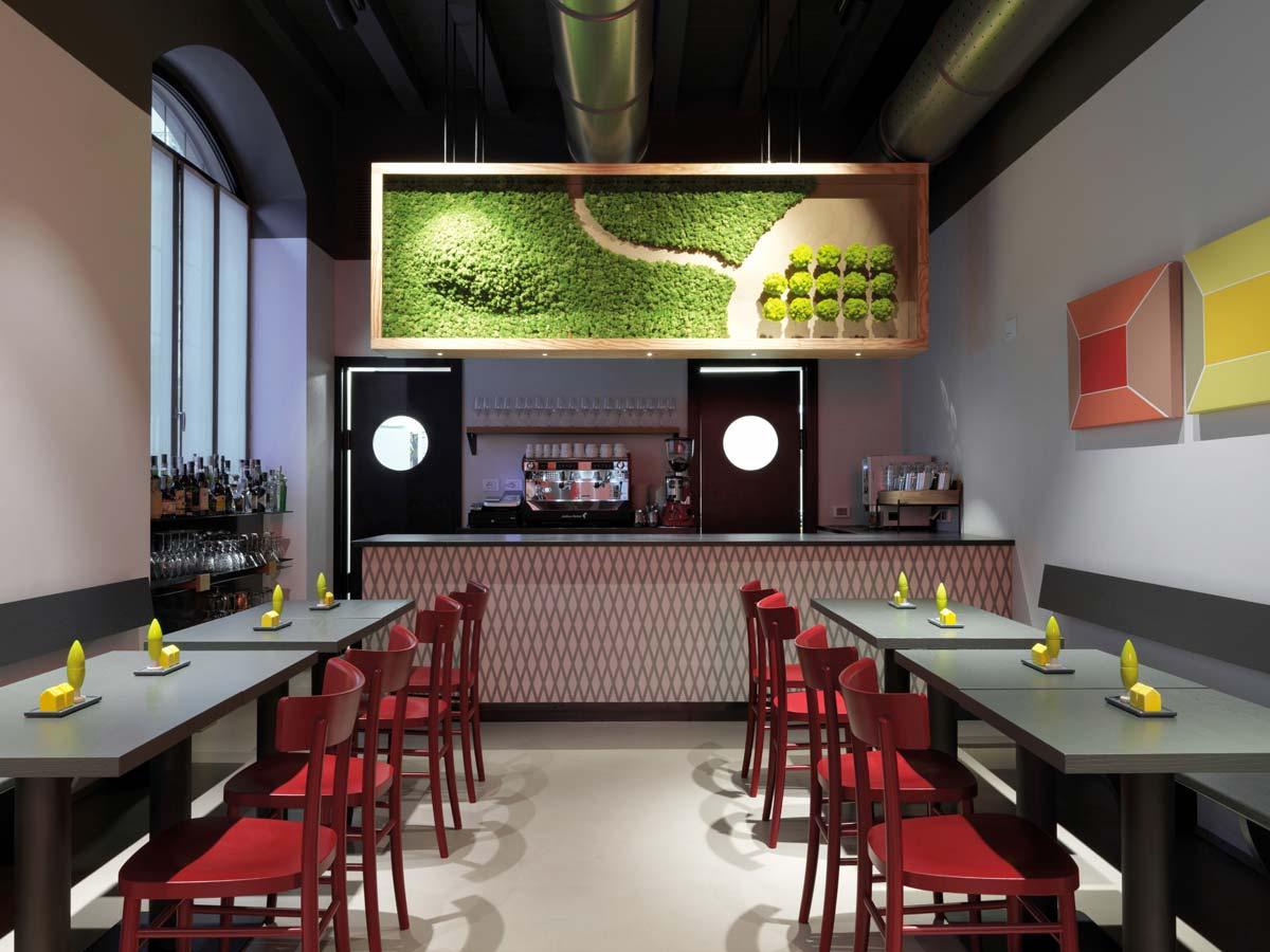 Savona 18 Suites, Milano, progetto Aldo Cibic, Petit Cafè ©Matteo Piazza