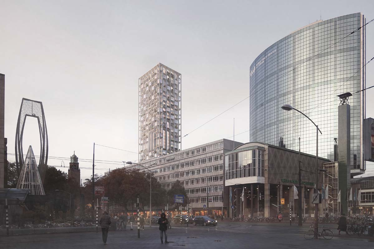 Coolsingel with the World Trade Center, Credit: Forbes Massie