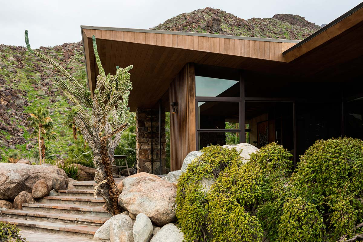 The Edris House, built and designed by E. Stewart Williams in 1954
