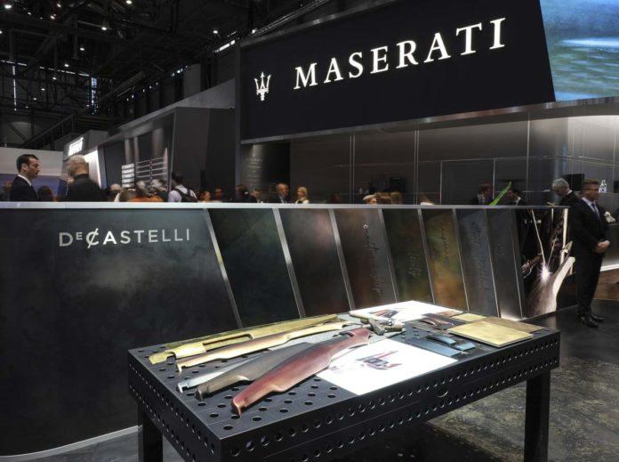 Stand Maserati in collaborazione con De Castelli al Salone dell'auto di Ginevra