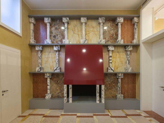 Lo showroom Refin Studio è accolto all'interno di uno spazio che Ettore Sottsass allestì negli anni novanta