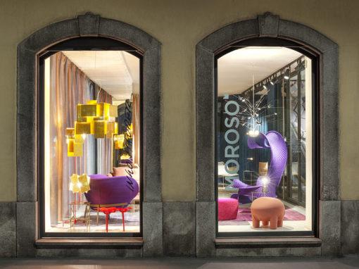 Showroom Moroso Milano, photo Leonardo Duggento.