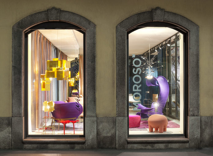 Showroom Moroso Milano, photo Leonardo Duggento.