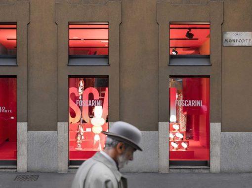 Foscarini, showroom Monforte