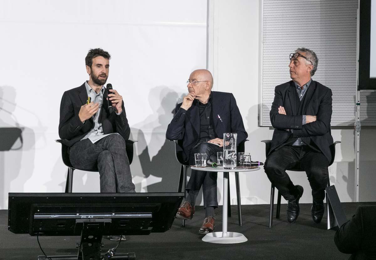 Joseph Grima, Direttore artistico del Museo del Design italiano, architetto Mario Bellini, Stefano Boeri, Presidente di Triennale Milano