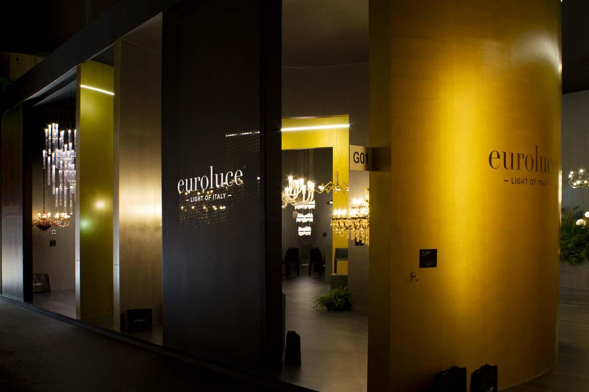Stand Euroluce al Salone del Mobile.Milano