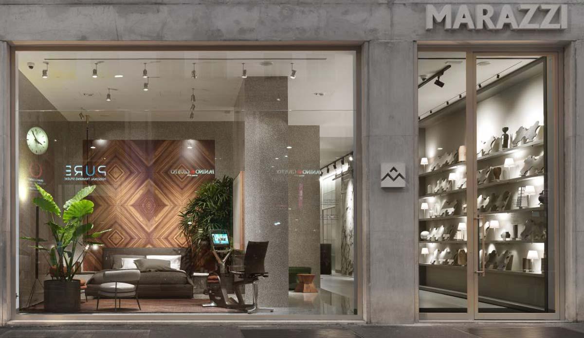 Esterno Nuovo Showroom a Milano, Marazzi