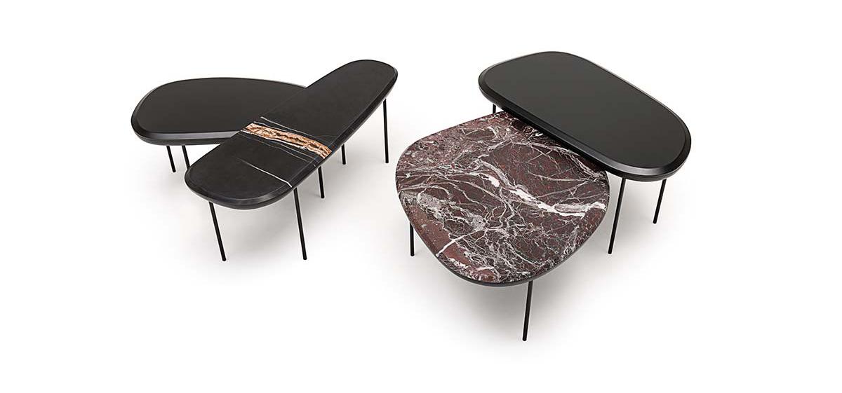 Tavolini pebble per Living divani