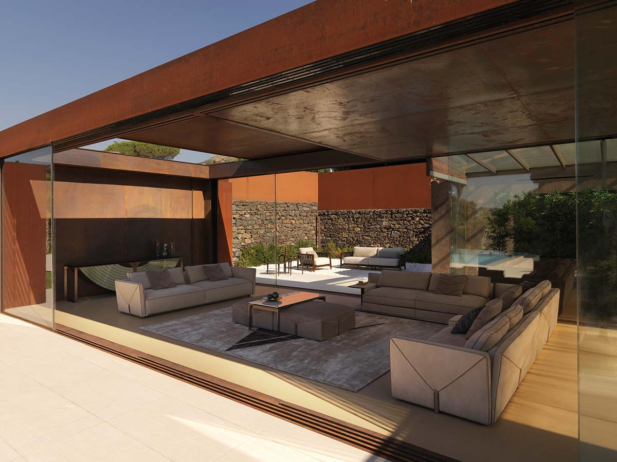 Bastian sofa by Visionnaire, design Mauro Lipparini