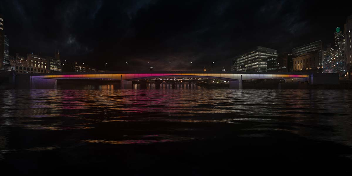 London Bridge © Illuminated River, Leo Villareal Studio