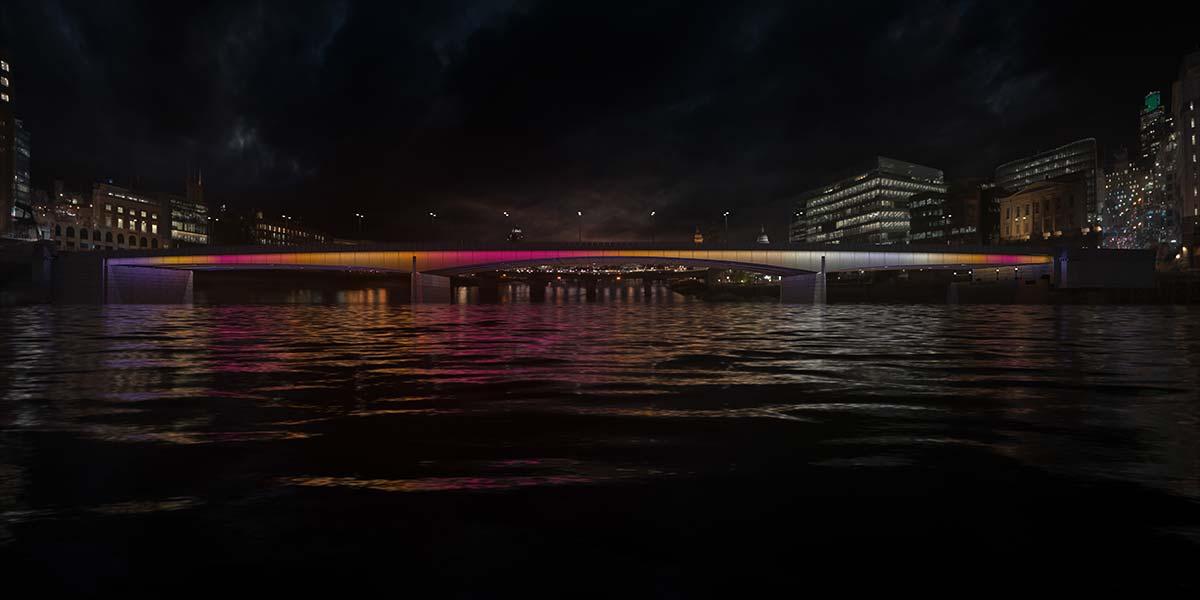 London Bridge © Illuminated River, Leo Villareal Studio