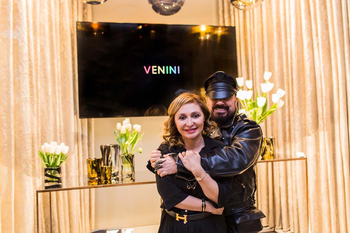 Silvia Damiani, vice presidente del gruppo Damiani proprietario di Venini, Peter Marino @ Marco Pionato