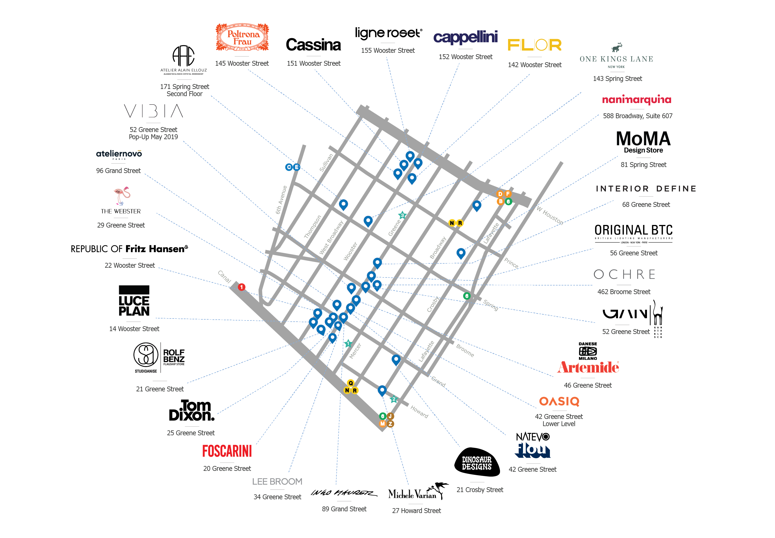 Mappa Soho Design District, courtesy of Soho Design District