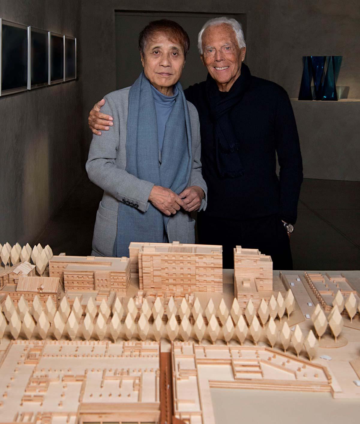 Tadao Ando e Giorgio Armani, © SGP