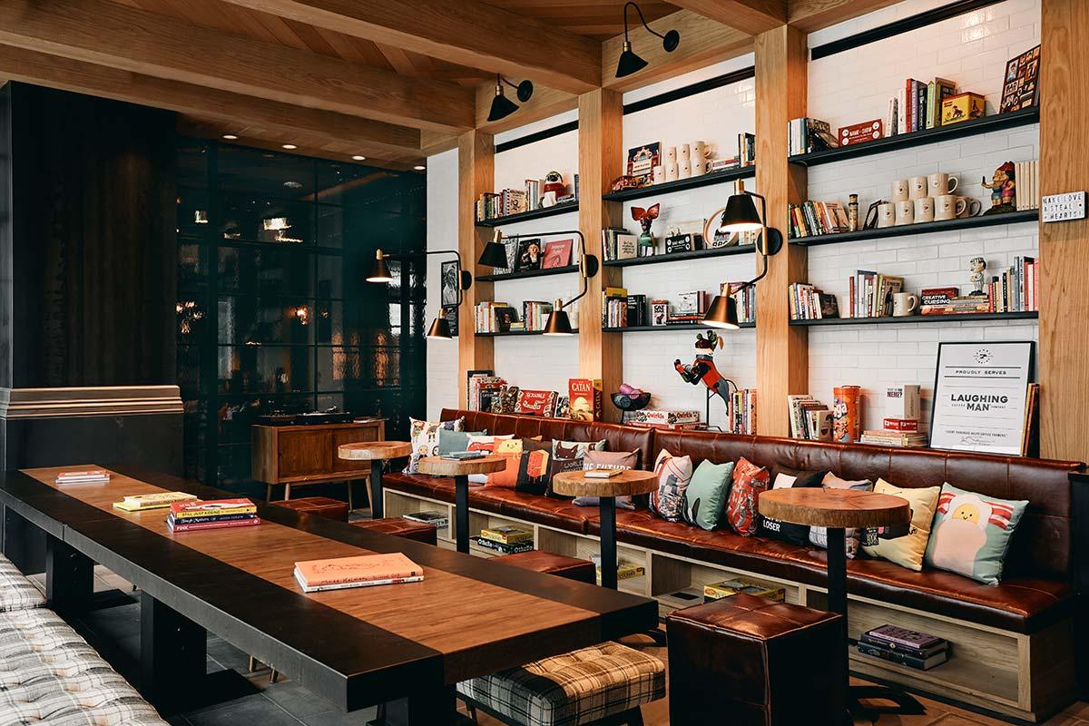 Funny Library Coffee Shop, Virgin Hotel @ San-Francisco
