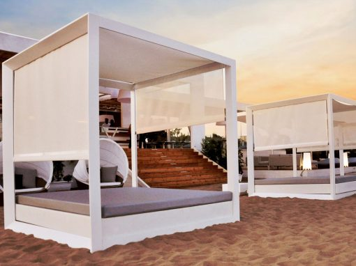 Sofa daybed Vela by Ramon Esteve, Vondom, Tayga Beach