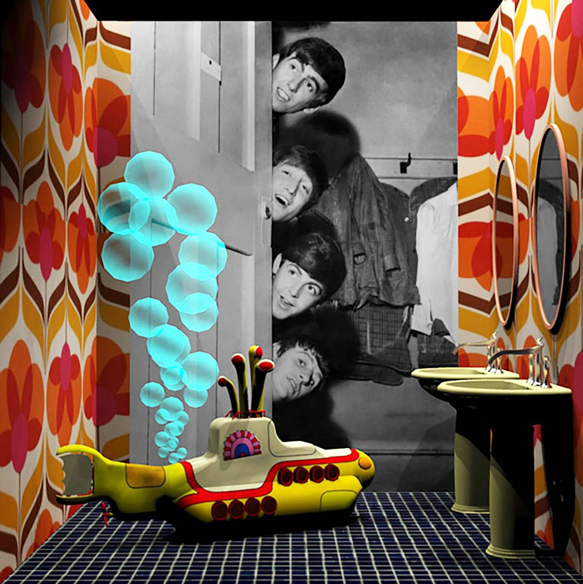 Bagno Beatles, mostra Famous Bathrooms