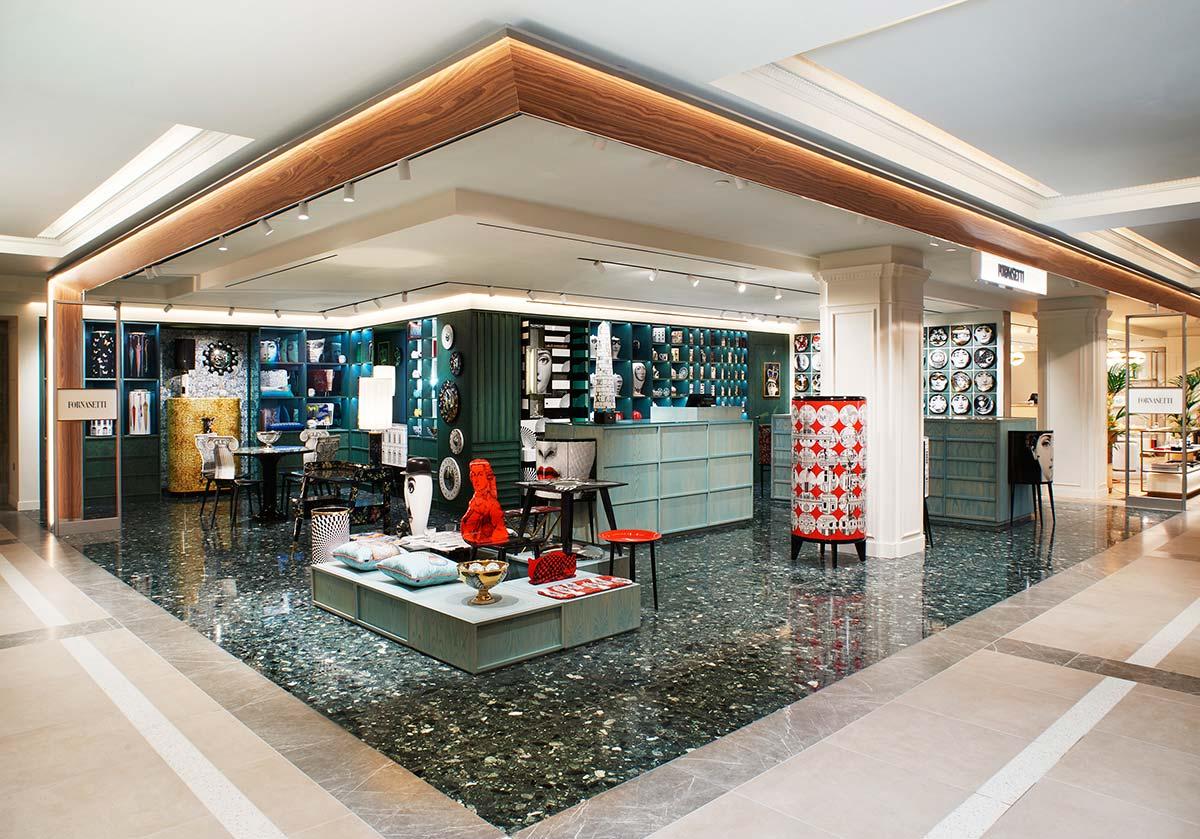 Store Fornasetti a Harrods, ©Fornasetti