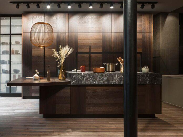 Cucina Intarsio, Flagship Store Parigi Cesar @Giuseppe Dinnella
