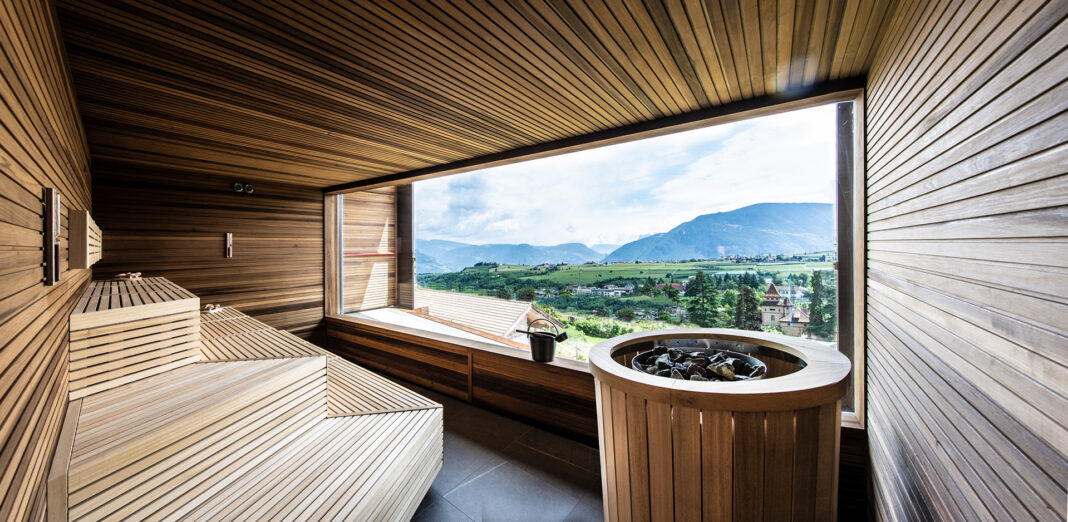Sauna Eclipse by Starpool @ Hotel Christof, Appiano - Photo © Helmuth Rier