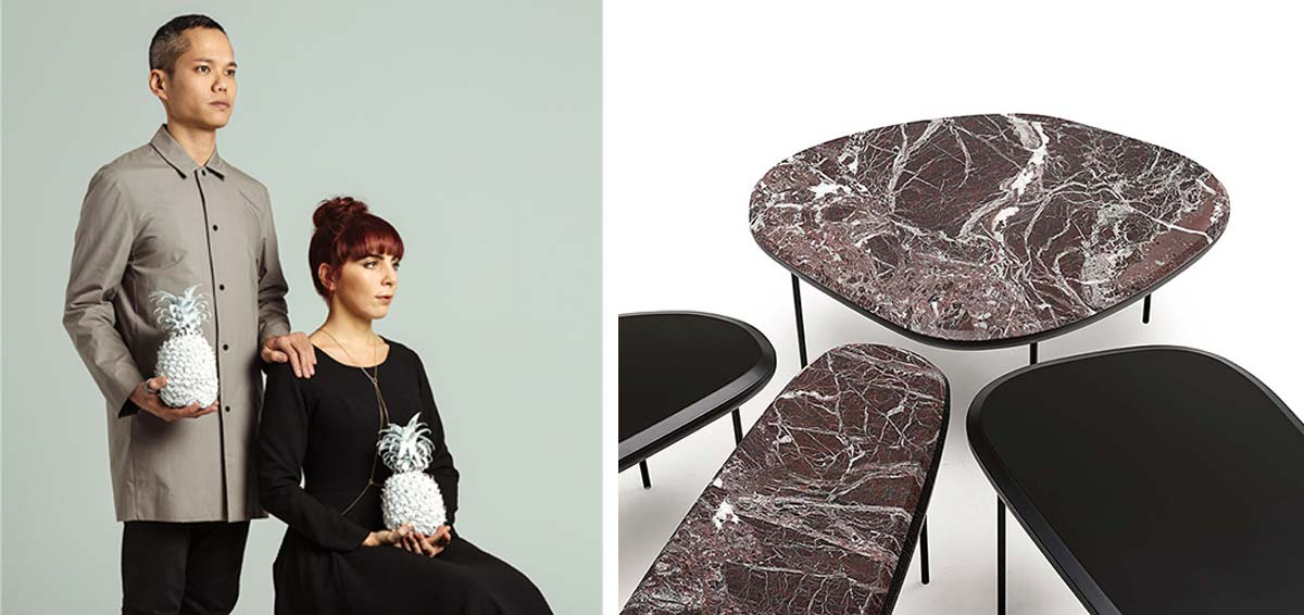Lanzavecchia + Wai per Living Divani, tavolini Pebble