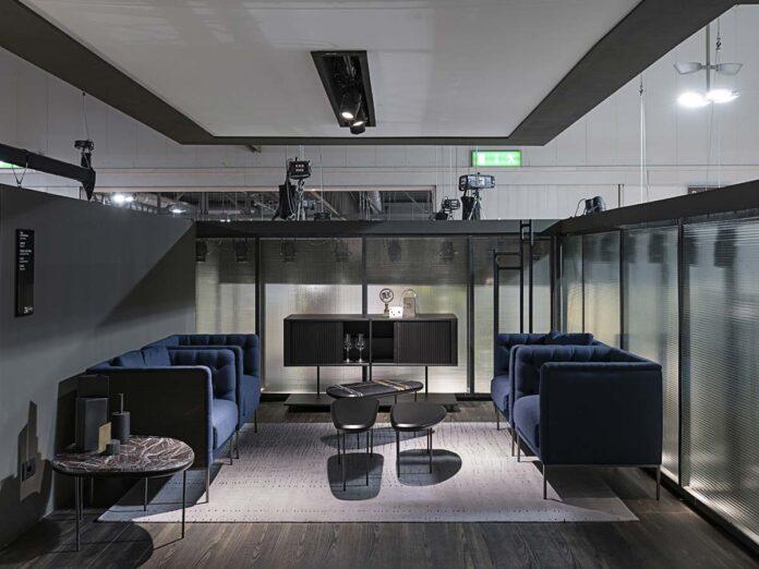 Tavolini Pebble by Lanzavecchia + Wai, mobile bar Aero B by Shibuleru, Living Divani