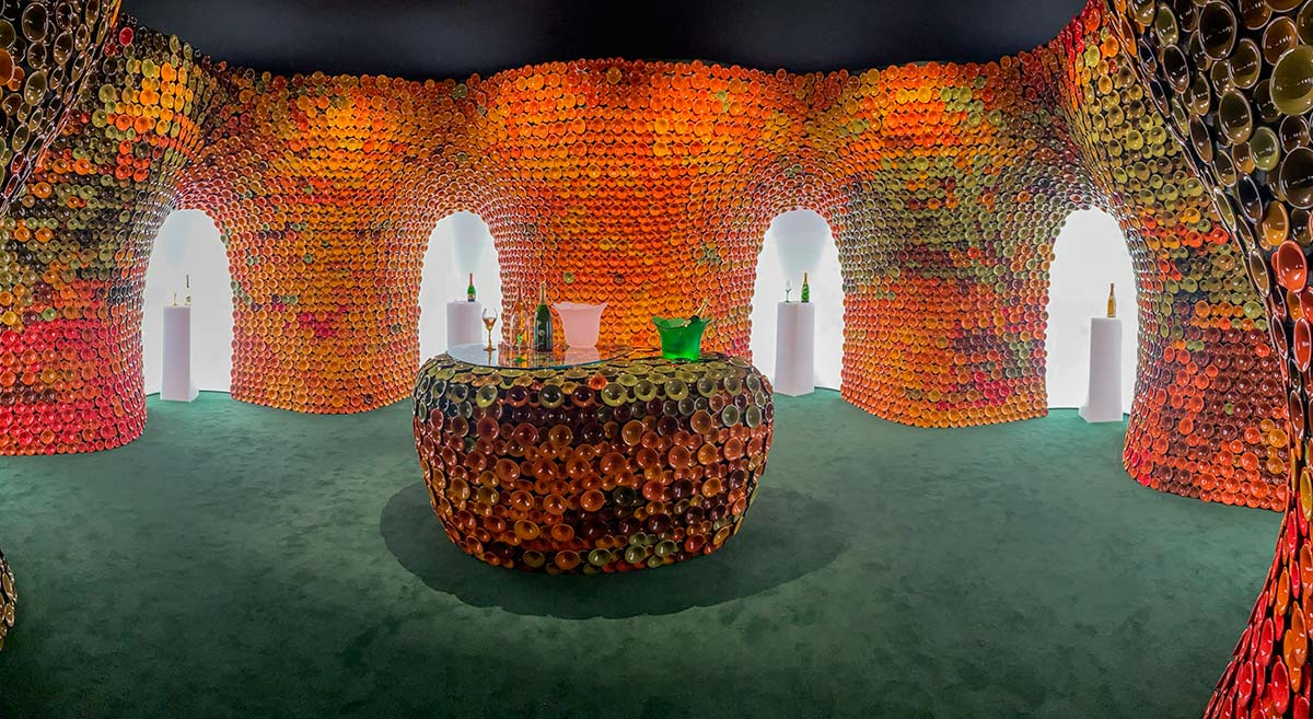 Perrier-Jouët booth at  Design Miami/