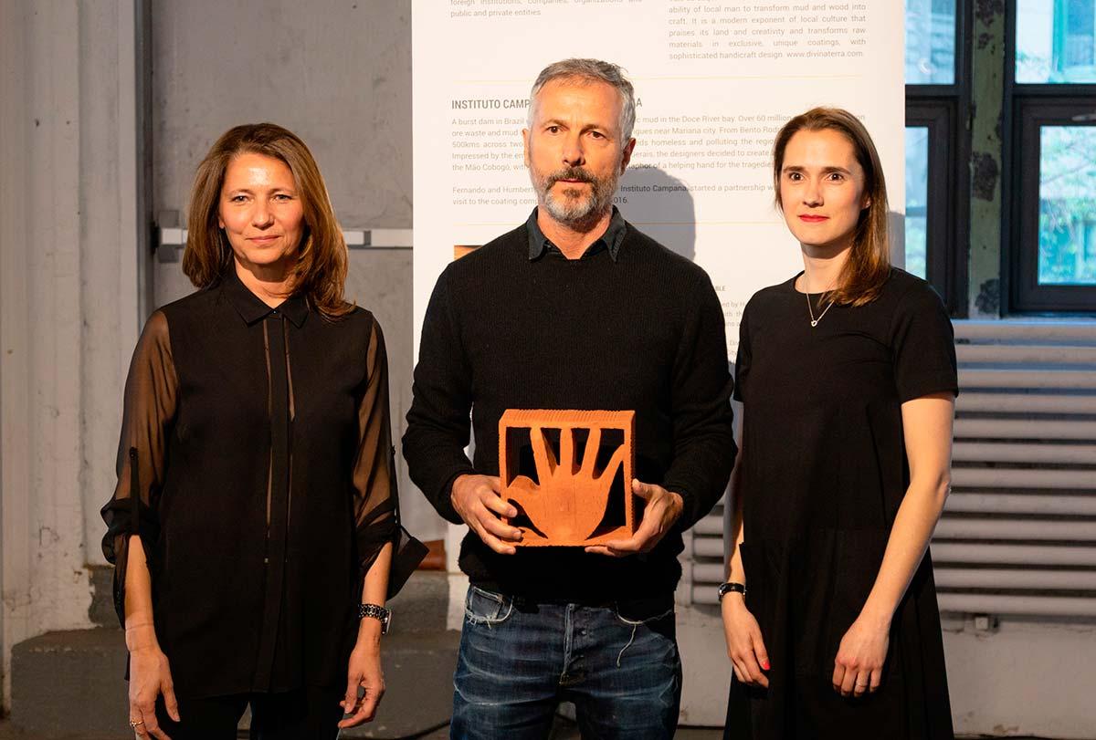 Odile Hainaut e Claire Pijoulat in compagnia di Humberto Campana, WantedDesign 2019