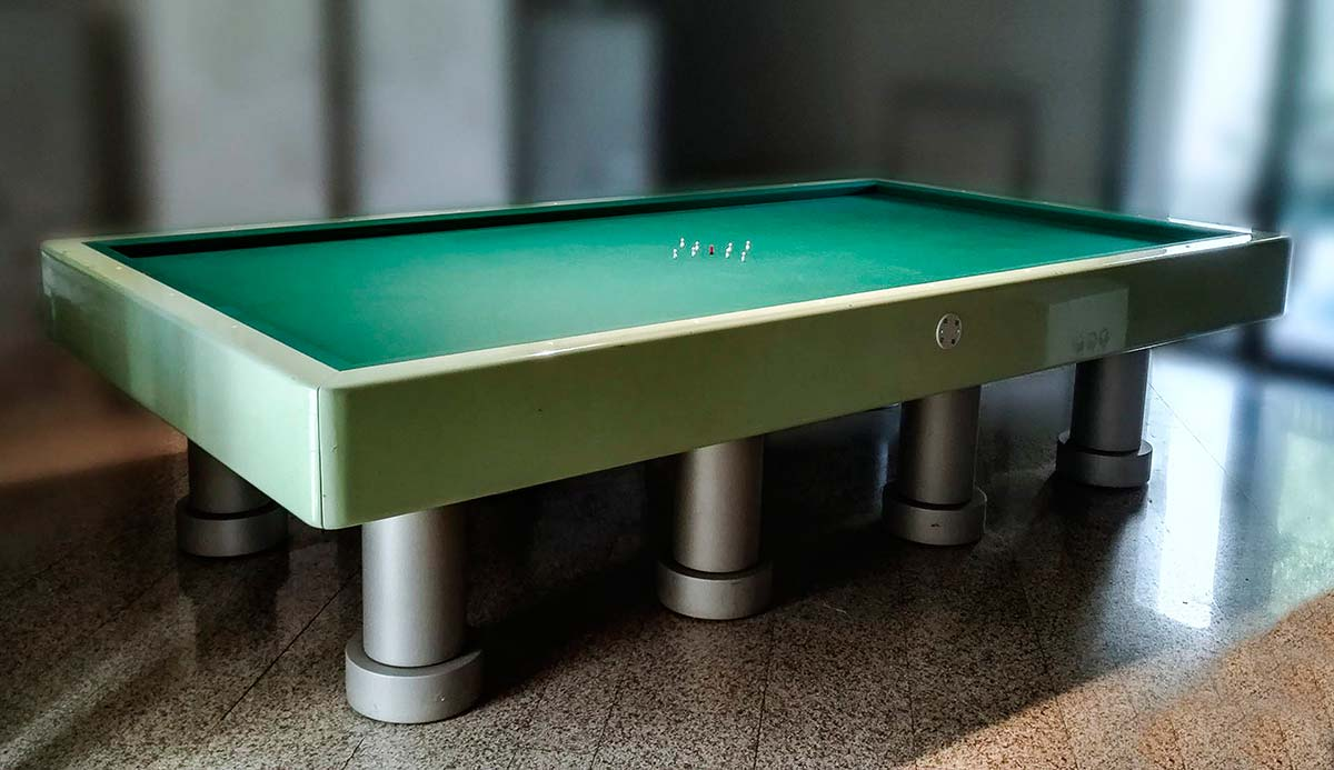 Pool Table by Remo Buti (1982)-at-Erastudio Apartment Gallery, courtesy of Remo Buti and Annalena Buti