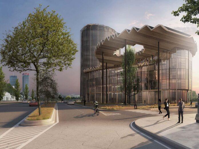 Render progetto Federlegno Fondazione Fiera Milano